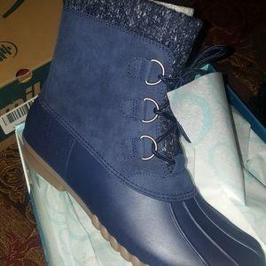 Blue size 10 boots